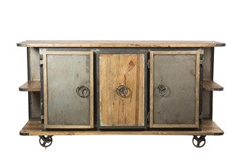 """Iron Wooden 75"""" Sideboard"""