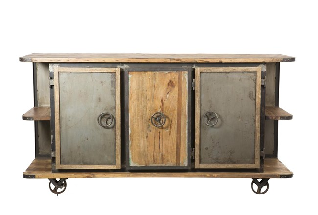 "Iron Wooden 75"" Sideboard - 360"