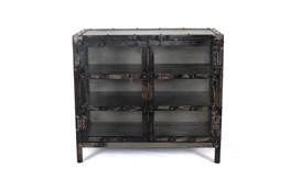 "Iron And Glass 36"" Sideboard"