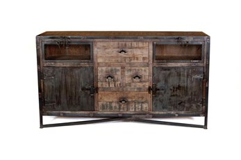"Iron And Wood 67"" Sideboard"