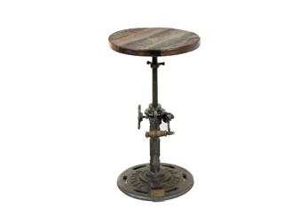 """Reclaimed Wood 21"""" Adjustable Stool"""