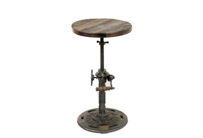 """Reclaimed Wood 21"""" Adjustable Stool - 360"""