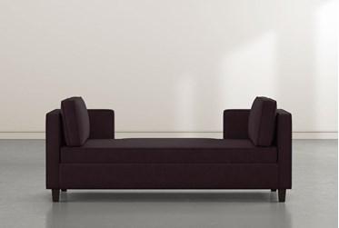 Circa Purple Velvet Settee