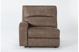Palmer Brown Left Arm Facing Power Recliner With Power Headrest & Usb