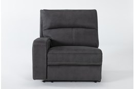 Palmer Grey Left Arm Facing Power Recliner With Power Headrest & Usb