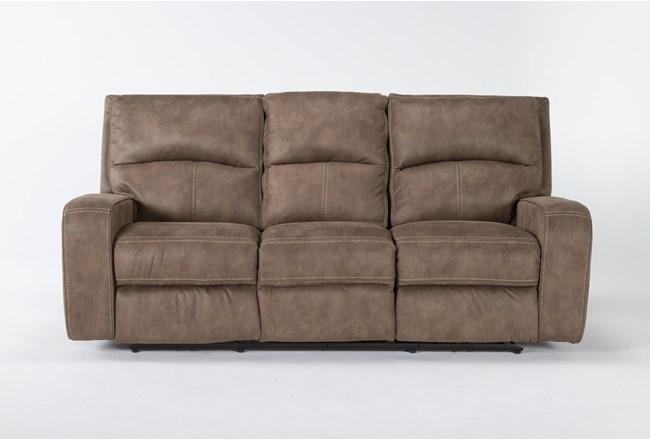 "Palmer Brown 85"" Power Reclining Sofa With Power Headrest & Usb - 360"