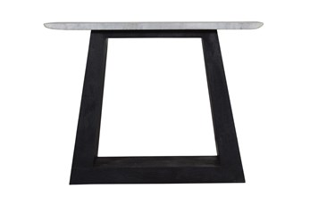 "Black Wood And Marble 40"" Console Table-Base"