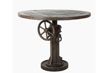 """Spoke Wheel 52"""" Sofa Table"""