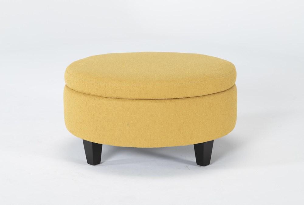 Perch II Fabric Medium Round Storage Ottoman