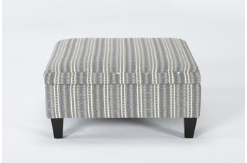 Perch II Fabric Medium Square Storage Ottoman