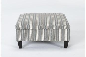 Perch II Fabric Medium Square Storage Ottoman