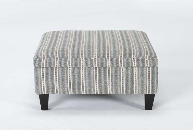 Perch II Fabric Medium Square Storage Ottoman - 360