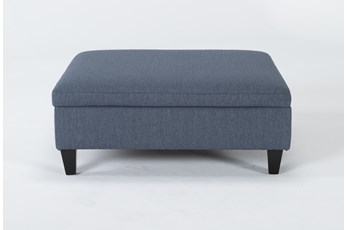 Perch II Fabric Large Square Storage Ottoman