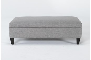 Perch II Fabric Medium Rectangle Storage Ottoman