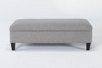 Perch II Fabric Medium Rectangle Storage Ottoman
