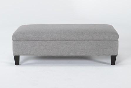 Perch II Fabric Medium Rectangle Storage Ottoman - Main
