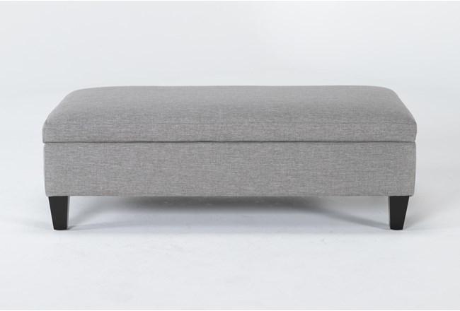Perch II Fabric Medium Rectangle Storage Ottoman - 360