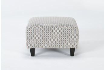 Perch II Fabric Small Square Ottoman