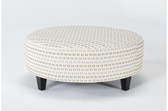 Perch II Fabric Large Round Ottoman