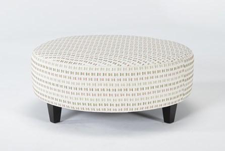 Perch II Fabric Large Round Ottoman - Main