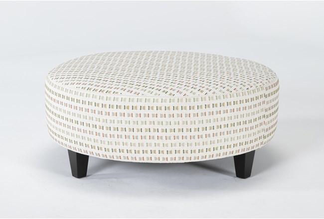 Perch II Fabric Large Round Ottoman - 360
