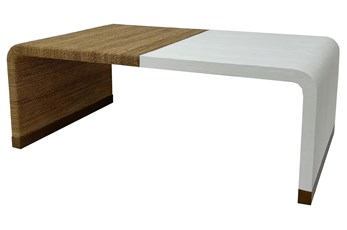 Ivory White + Abaca Rope Coffee Table