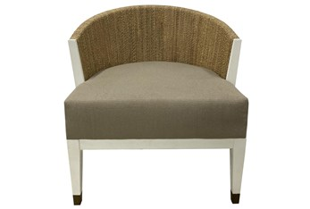 Ivory White + Abaca Rope Lounge Chair
