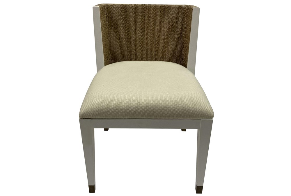 Ivory White + Abaca Rope Side Chair