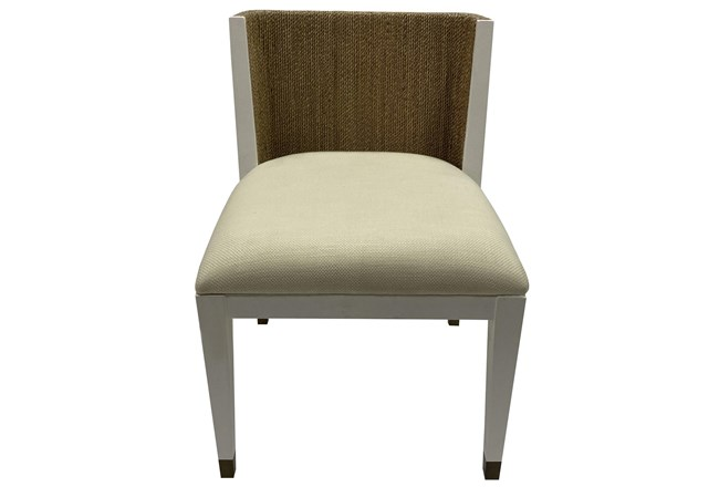Ivory White + Abaca Rope Side Chair - 360