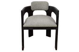 Charcoal Grey + Brass Arm Chair