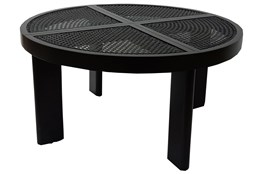 Black + Natural Cane Coffee Table