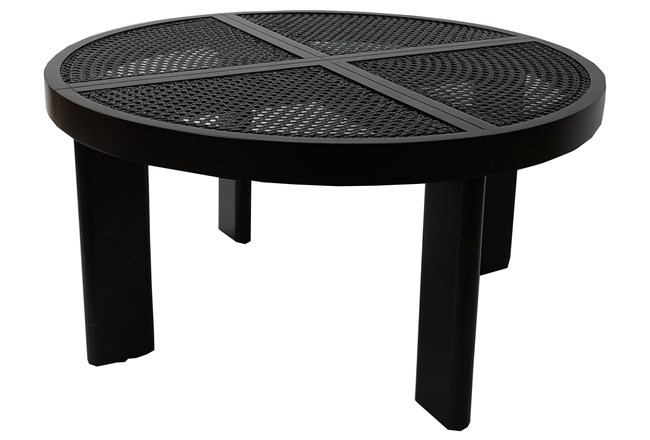 Black + Natural Cane Coffee Table - 360