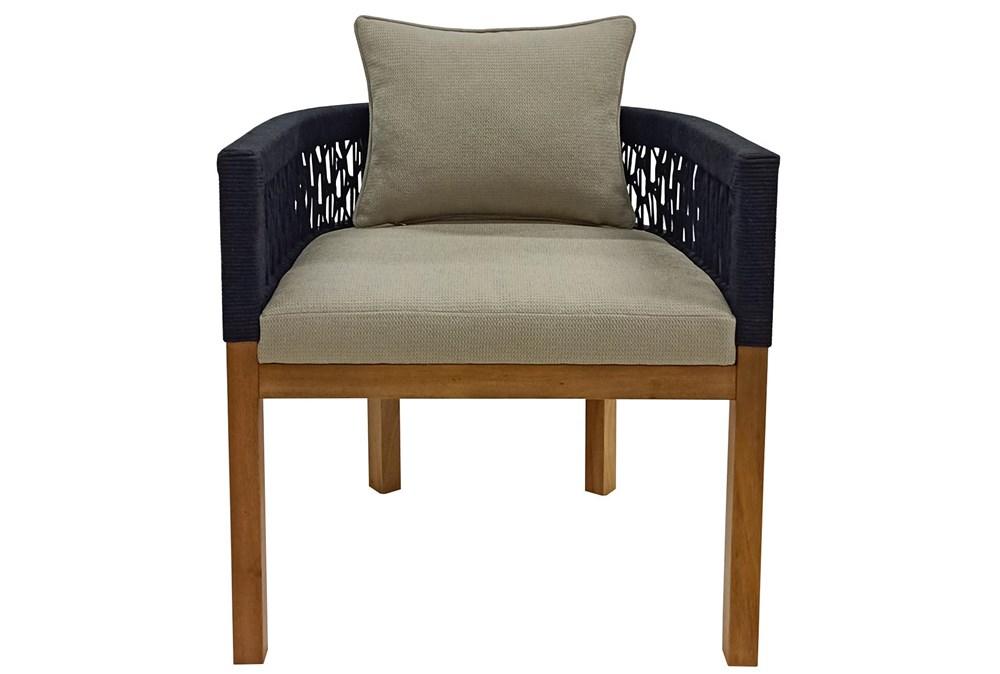 Mahogany + Rope Weaving Lounge Chair