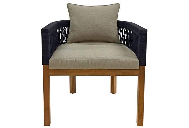 Mahogany + Rope Weaving Lounge Chair - 360