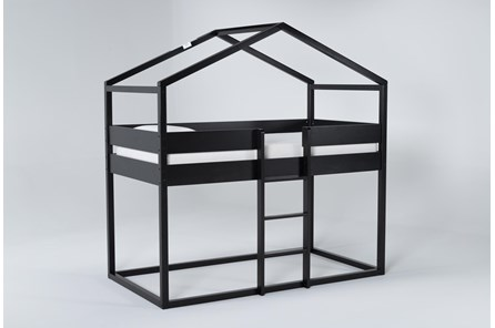 Flannibrook Black House Twin Loft Bed - Main