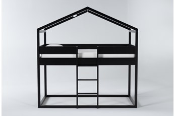 Flannibrook Black House Twin Loft Bed