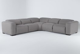 """Morro Bay 5 Piece 130"""" Power Reclining Sectional With Power Headrest"""