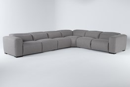 """Morro Bay 6 Piece 164"""" Power Reclining Sectional With Power Headrest"""