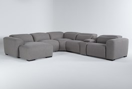"""Morro Bay 6 Piece 143"""" Power Reclining Sectional With Left Arm Facing Chaise"""