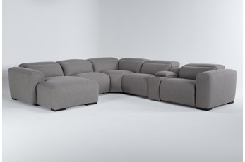 "Morro Bay 6 Piece 143"" Power Reclining Sectional With Left Arm Facing Chaise"