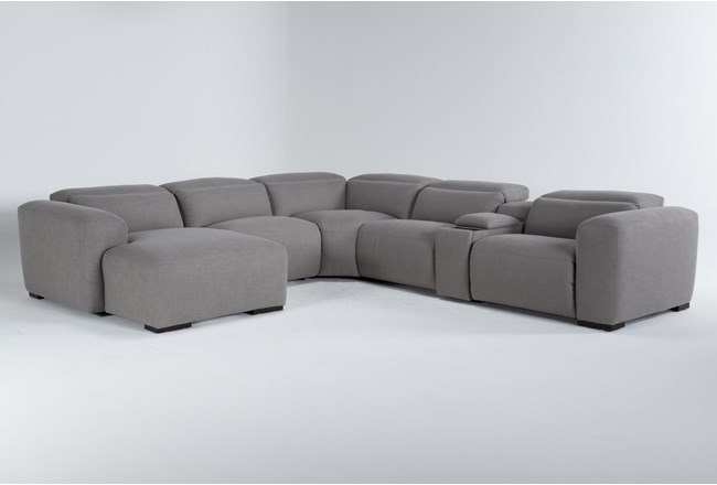 """Morro Bay 6 Piece 143"""" Power Reclining Sectional With Left Arm Facing Chaise  - 360"""