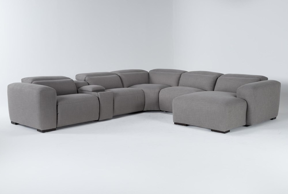 """Morro Bay 6 Piece 143"""" Power Reclining Sectional With Right Arm Facing Chaise"""