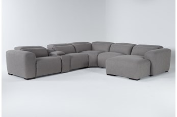 "Morro Bay 6 Piece 143"" Power Reclining Sectional With Right Arm Facing Chaise"