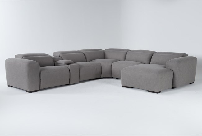 """Morro Bay 6 Piece 143"""" Power Reclining Sectional With Right Arm Facing Chaise  - 360"""