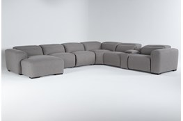 "Morro Bay 7 Piece 177"" Power Reclining Sectional With Left Arm Facing Chaise,Power Headrest & Usb"