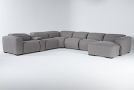 """Morro Bay 7 Piece 177"""" Power Reclining Sectional With Right Arm Facing Chaise,Power Headrest & Usb"""