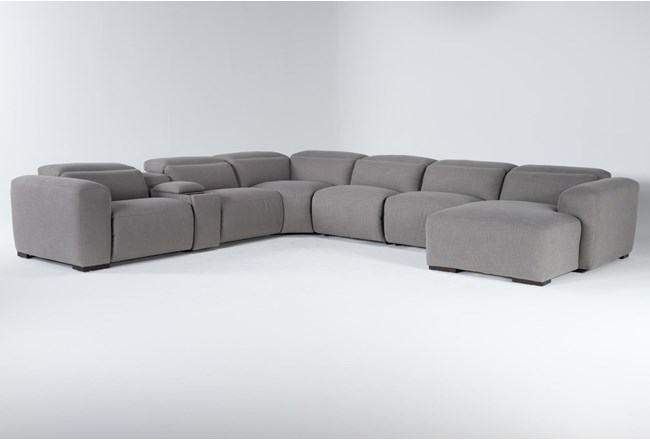 "Morro Bay 7 Piece 177"" Power Reclining Sectional With Right Arm Facing Chaise,Power Headrest & Usb - 360"