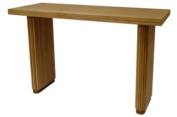 """Natural + Brass 51"""" Console Table"""