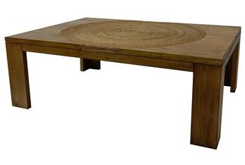 Wood + Abaca Rope Coffee Table