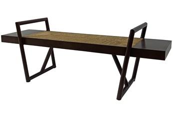 Java Cafe + Natural Abaca Rope Bench